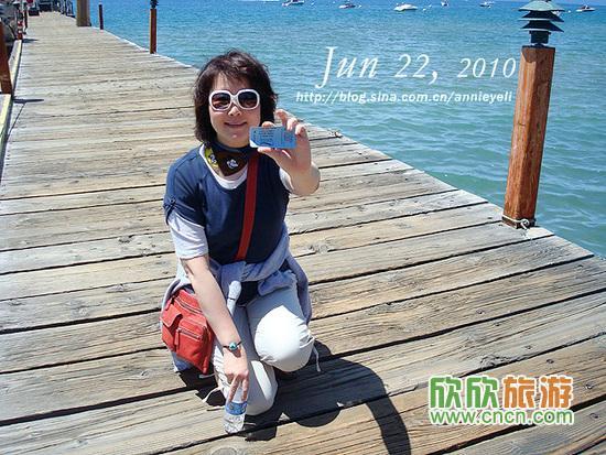 明轮船游美国天堂:太浩湖翡翠湾
