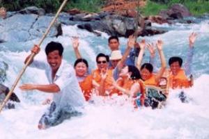 德化桃仙溪竹筏漂流