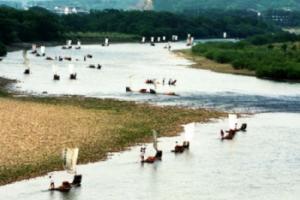 楠溪江龙河渡竹筏漂流