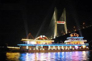 武汉夜游长江